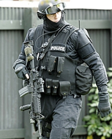 An armed offenders squad officer