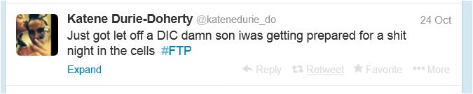 Katene's tweet from 24 October