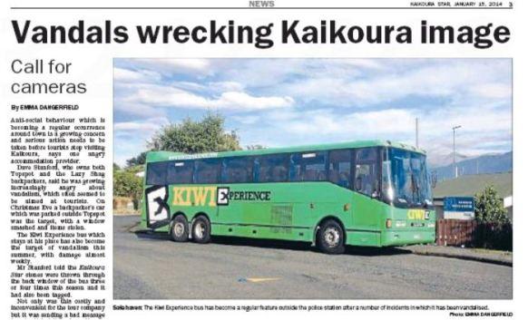 Call for cameras in Kaikoura