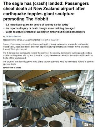eagle crash landed