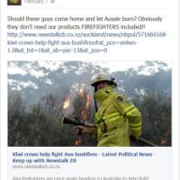 New Zealand Hate Site Says 'Let Australia Burn.' Time for FB to Ban the Boycott Site?