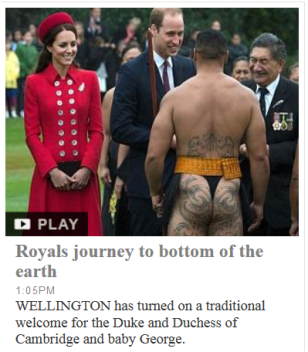 Royal journey to bottom of earth