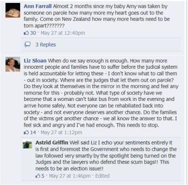 Amy Farrall speaks out on the SST's Facebook page
