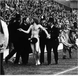 Aussie Michael O'Brien became the world's first streaker at a major sporting event when he ran out naked on to the pitch at Twickers during a match between England and France (Daily Mirror)