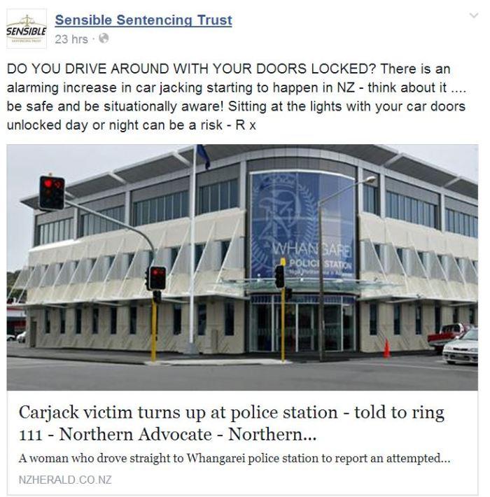Lock your car doors in NZ