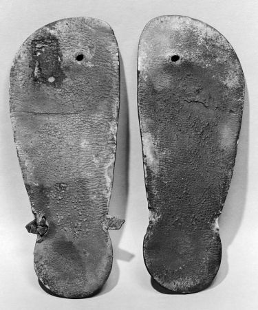 Pair of leather thong sandals from the New Kingdom of Egypt (ca. 1550–1307 B.C.)