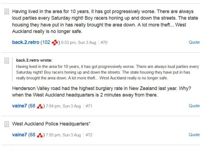 What people are saying about West Auckland.