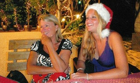 Dorothy Lee Barnett and Savanna in happier times enjoying an Australian Christmas