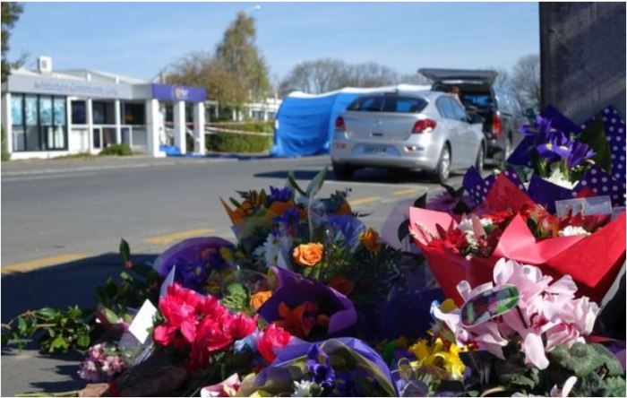 flowers close to the scene of the tragedy