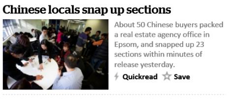 chinese buying up land
