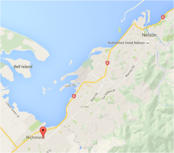 Florence Street is approx 13 km from Nelson