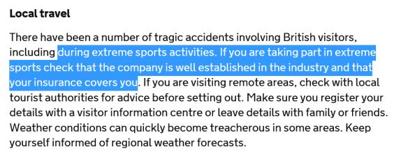 British advice