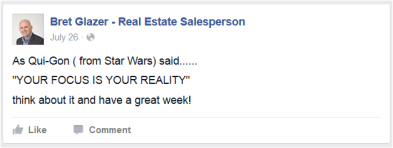 Reality for Glazer, Star Wars style