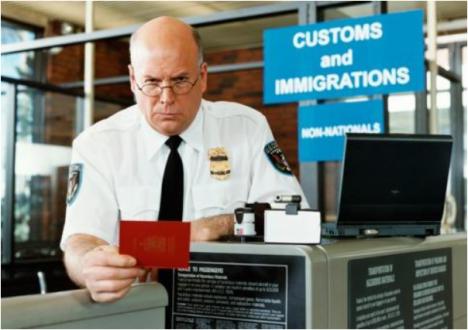 customs long hard stare