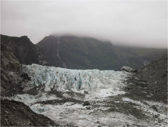 Fox glacier where 4 britons have died in helicopter crash