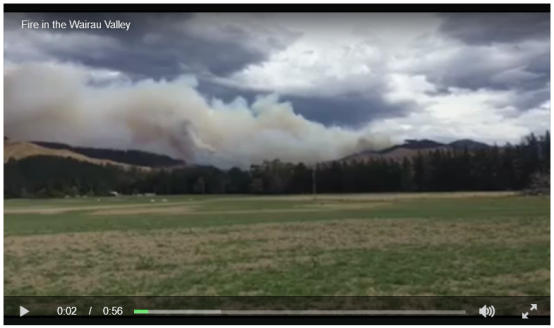 Fire in the Wairau Valley