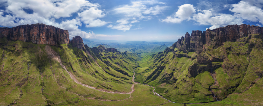 The Drakensberg mountains