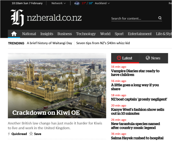 crackdown on kiwi oe