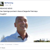 "Fonterra Boss Theo Spierings ""Punched in Face at Dargaville Field Days"""