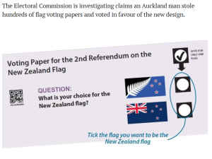 vote rigging nz flag referendum