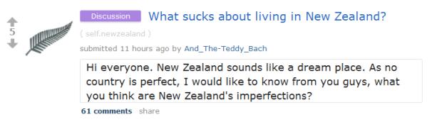 "health insurance nz reddit  Reddit NZ: ""What Sucks About Living in New Zealand?"" | E2NZ.org"