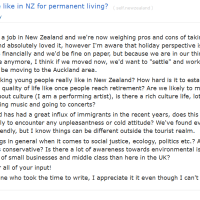 """Thread: """"What is life like in NZ for permanent living"""""""