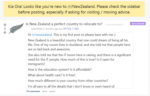 """health insurance nz reddit  Reddit New Zealand: """"Is New Zealand a perfect country to relocate to ..."""